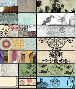 texturen im vintage-stil