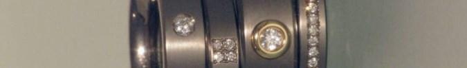 Verlobungsringe aus Titan mit Brillanten