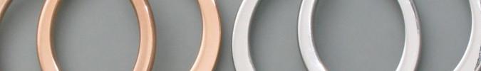 Kollektion Große Creolen im Multicolor-Look, breiter