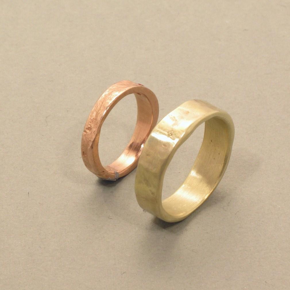Ringe in Rot- und Gelbgold