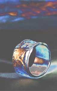 Guss-Ring aus Silber