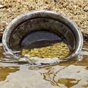 waschzuber fuer faire Gewinnung von Gold